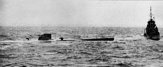 Captura del submarino alemán U-110