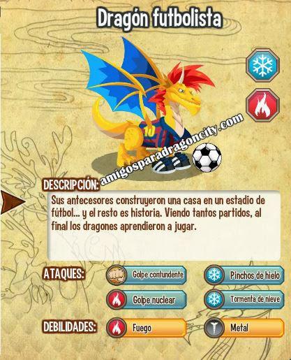 imagen de las caracteristicas del dragon futbolista