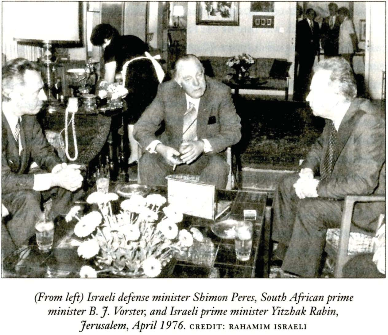 south african apartheid voerster and israeli leaders