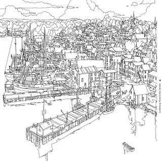 This Unique Colouring Book Features Immersive Aerial Views Of Real Cities From Around The World Alongside Gorgeously Illustrated Architectural