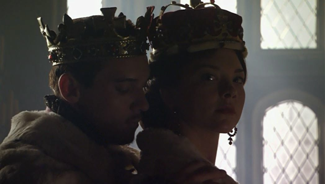 King Henry VIII crowns Anne Boleyn as Marquess of Pembroke