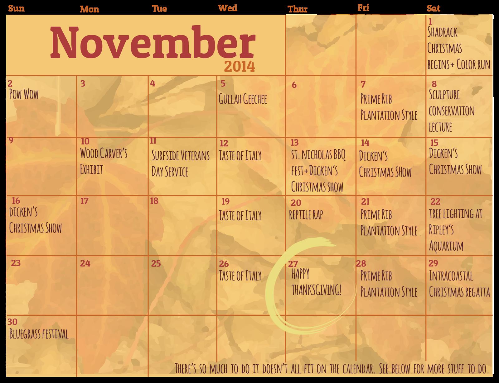 Myrtle Beach Events Friday November