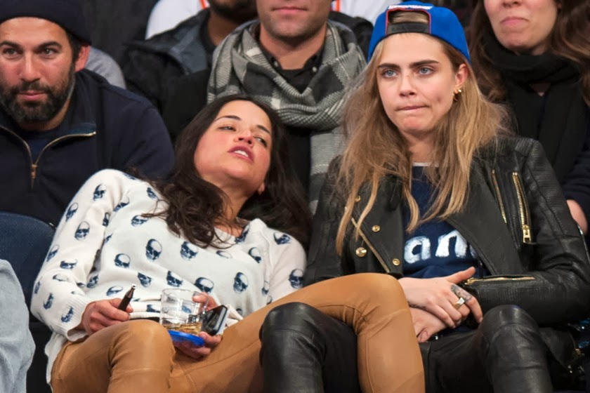 chatter busy michelle rodriguez and cara delevingne kiss