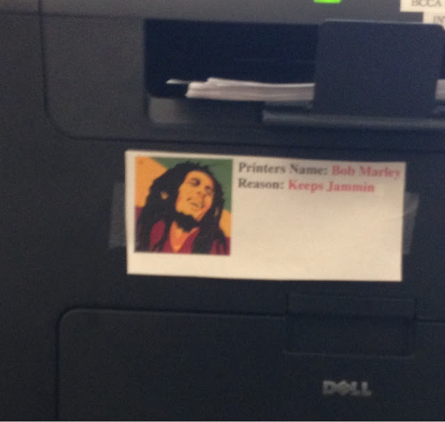 funny printer sign