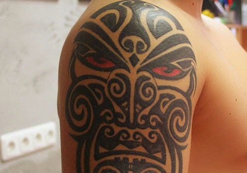 Ancient Indian Tattoos Mask Ancient Tribal Ta...
