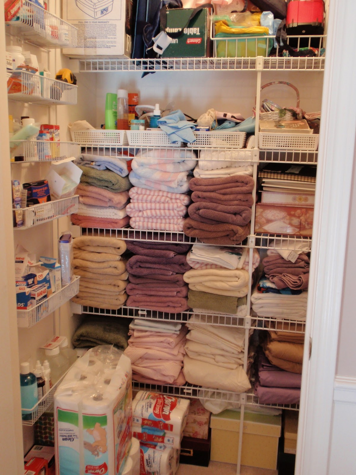 Superb Organized Linen Closet