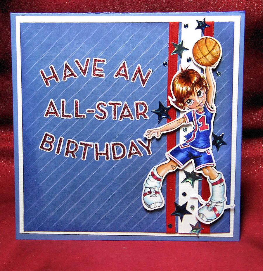 anniebee's craft room a boy's birthday card, Birthday card