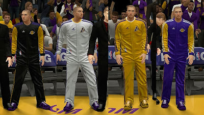 NBA 2K14 Real Lakers Bench Uniforms