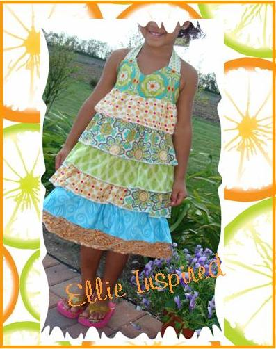ruffled halter neck dress pattern