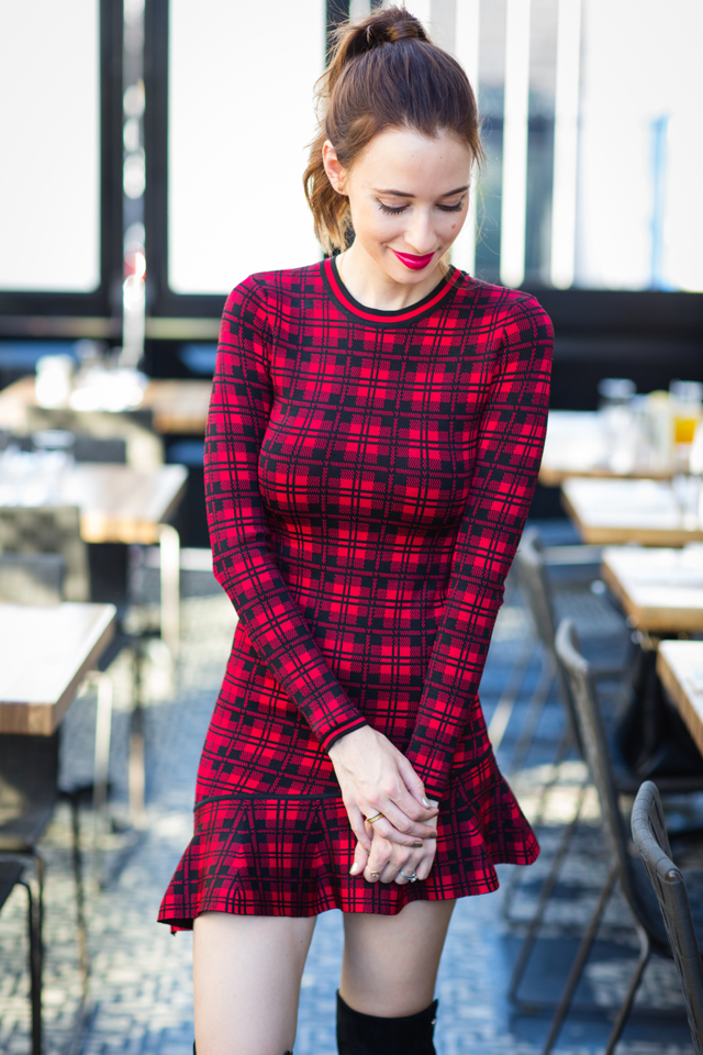 red plaid dress from torn by ronny kobo via M Loves M @marmar