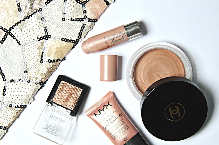 NYE Beauty, New Years Beauty Products, Gigi Hadid makeup, Chanel Soleil Tan de review, golden bronze makeup, NYX liquid illuminator review, Catrice liquid metal eyeshadow, collection speedy highlighter review, irish fashion blogger, irish beauty blogger