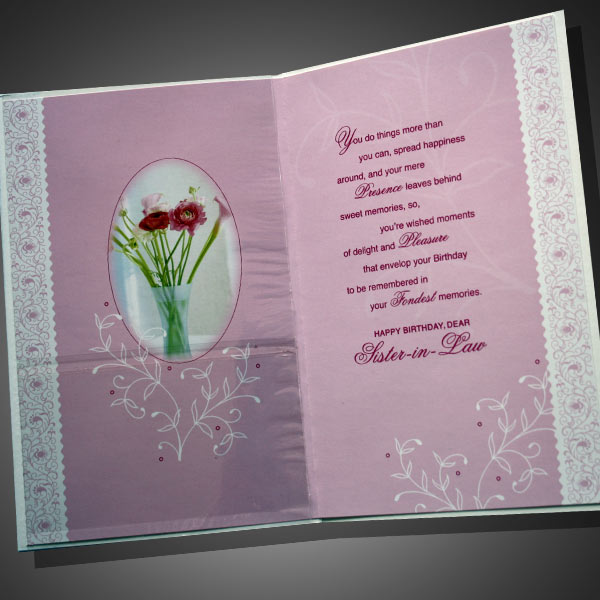 Sister in Law Birthday Wishes Cards