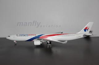 MFG0003 Aircraft Miniature Malaysia Airlines A330 300 9M MTA (1:400