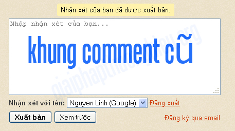 Khung comment cũ