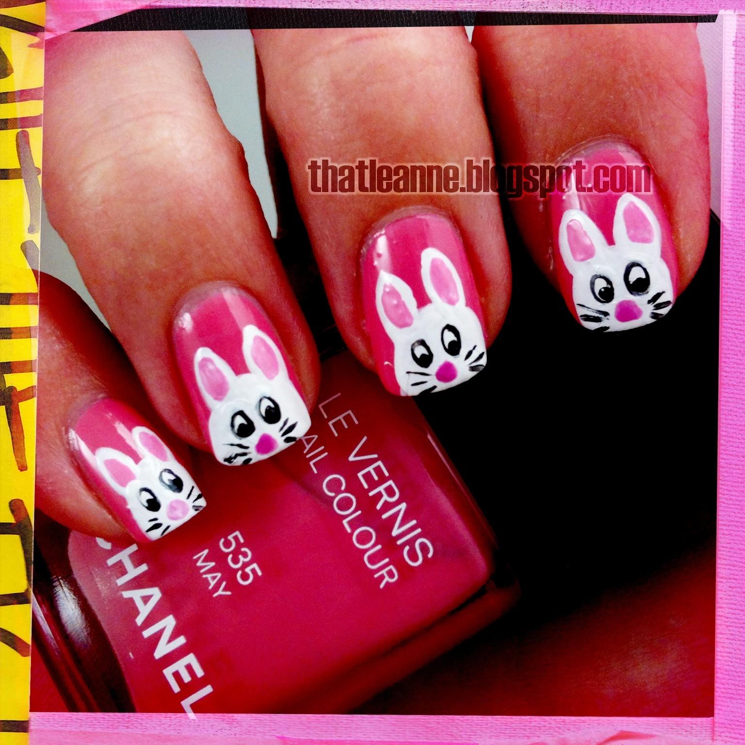 thatleanne: Easter Bunny Nail Art 2012!
