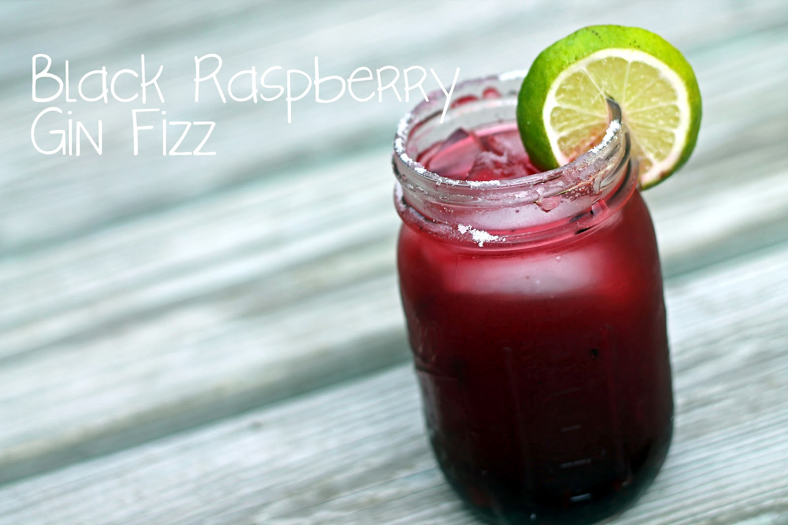 Black Raspberry Gin Fizz - Baked in the South