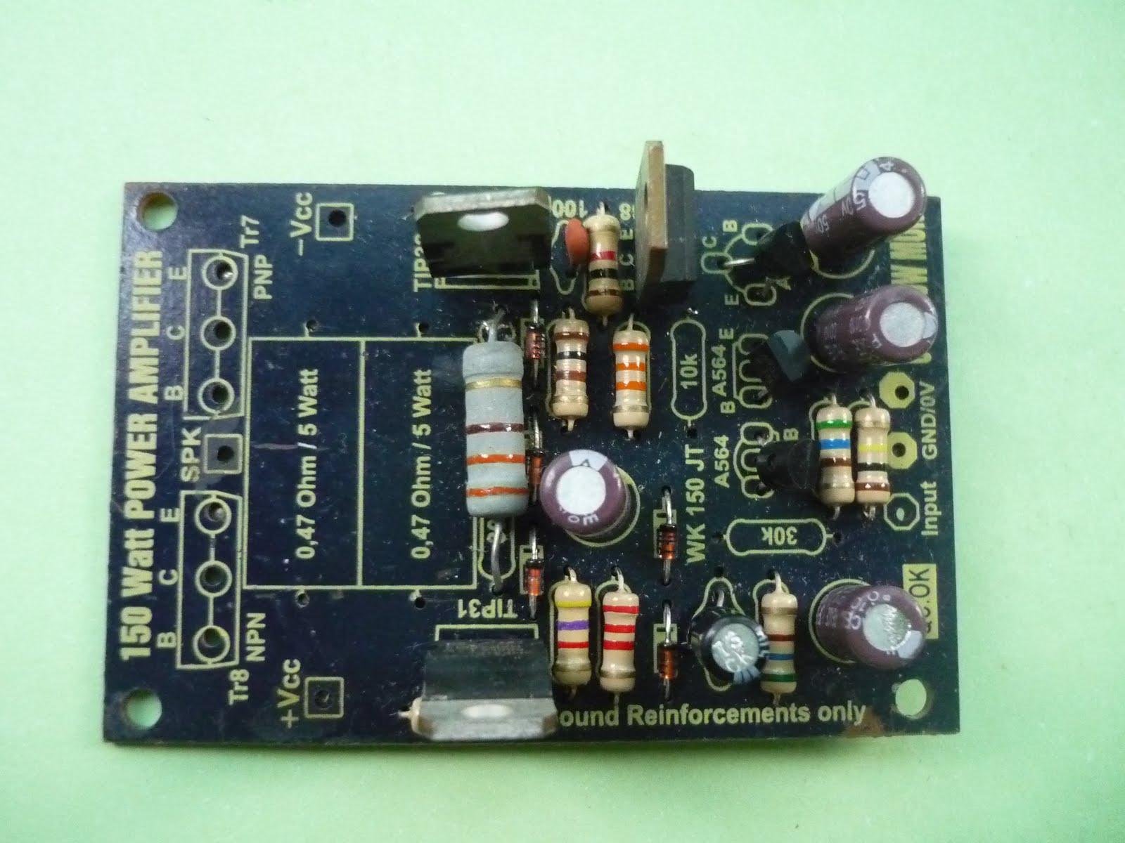 MAGICNET (TanjungBalai ): modifikasi power ampli 150 watt OCL part VI