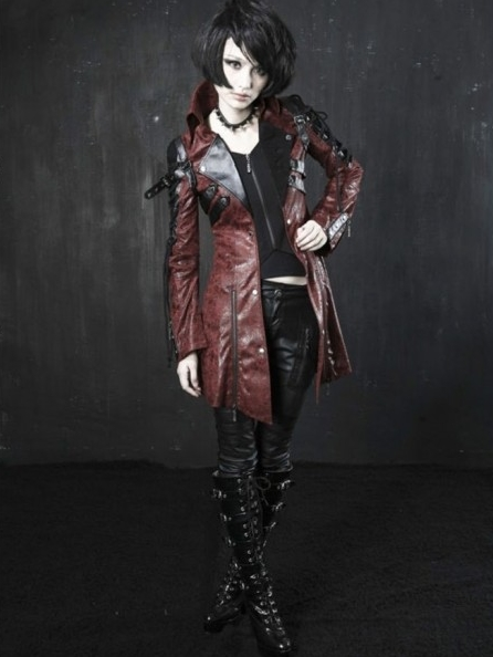 Gothic Vampire Style Punk Jacket for Women