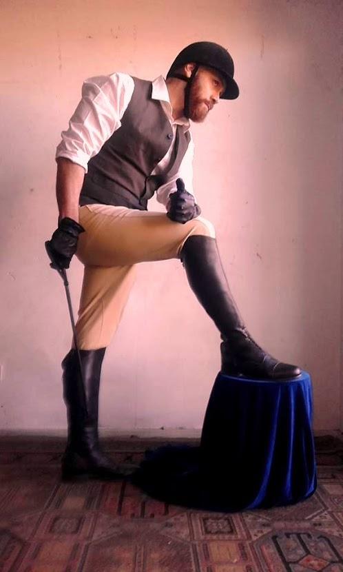 Gustavo De Filpo modelando para Pablo Sombrero