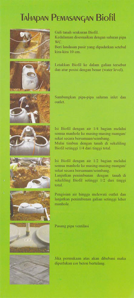septic tank biofil, cara pasang septic tank biofil, biocomb, induro, biohitech, biorich, bioone