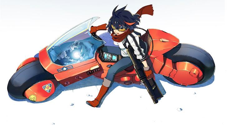 Matoi Ryuko Motorcycle Anime