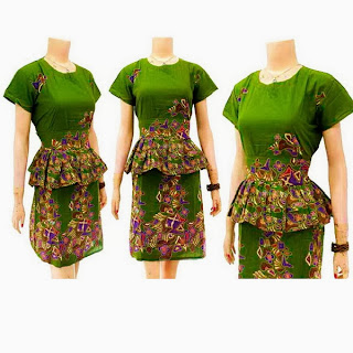 DB3258 Model Baju Dress Batik Modern Terbaru 2013