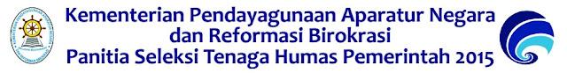 PENGUMUMAN PENERIMAAN TENAGA HUMAS PEMERINTAH TAHUN 2015