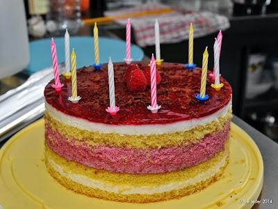 Geburtstagstorte für einen der Teilnehmer