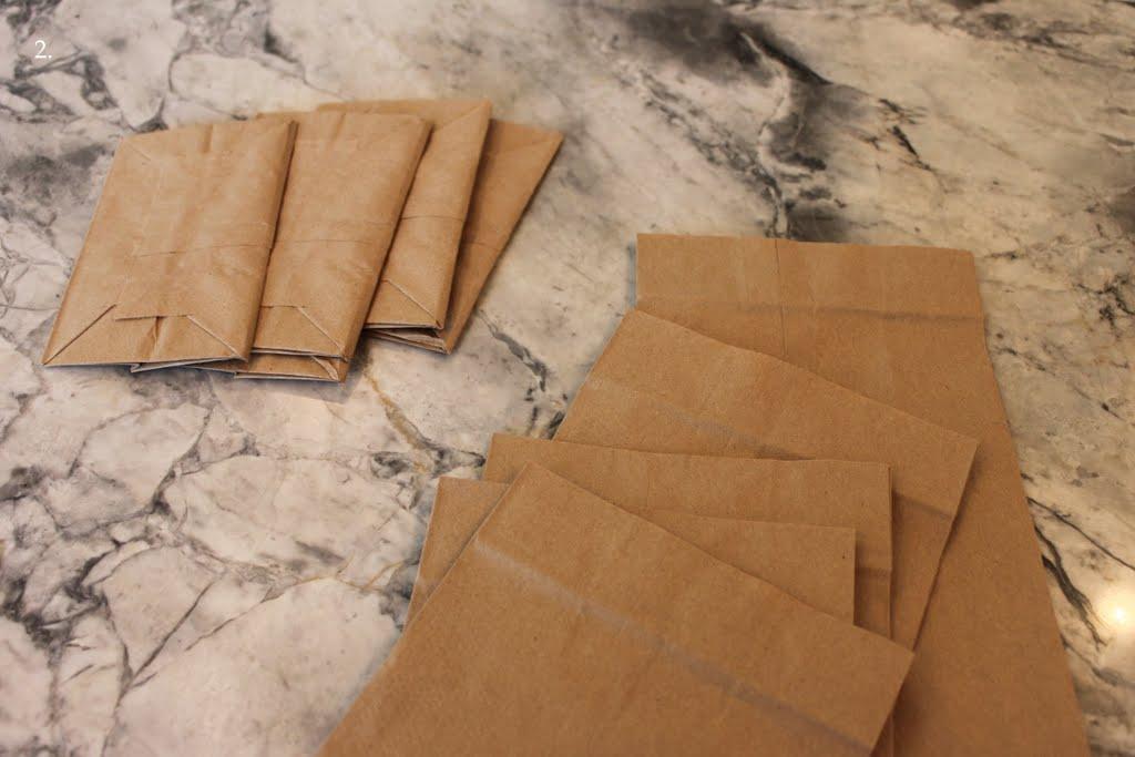 diy paper bag hanging stars or flowers tutorial