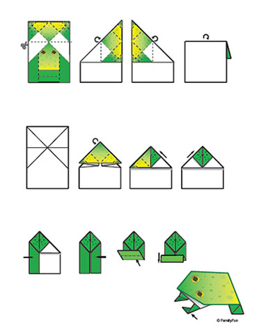 Easy Origami Frog