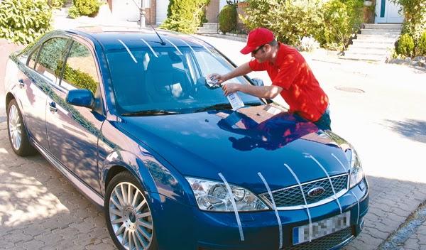 Limpiando los cristales y faros de tu auto