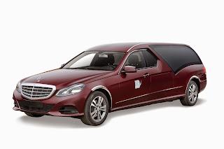 Corbillard STYLO limousine Mercedes, système BERGLASS