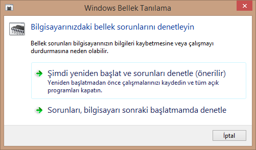 Windows Bellek Tanılama