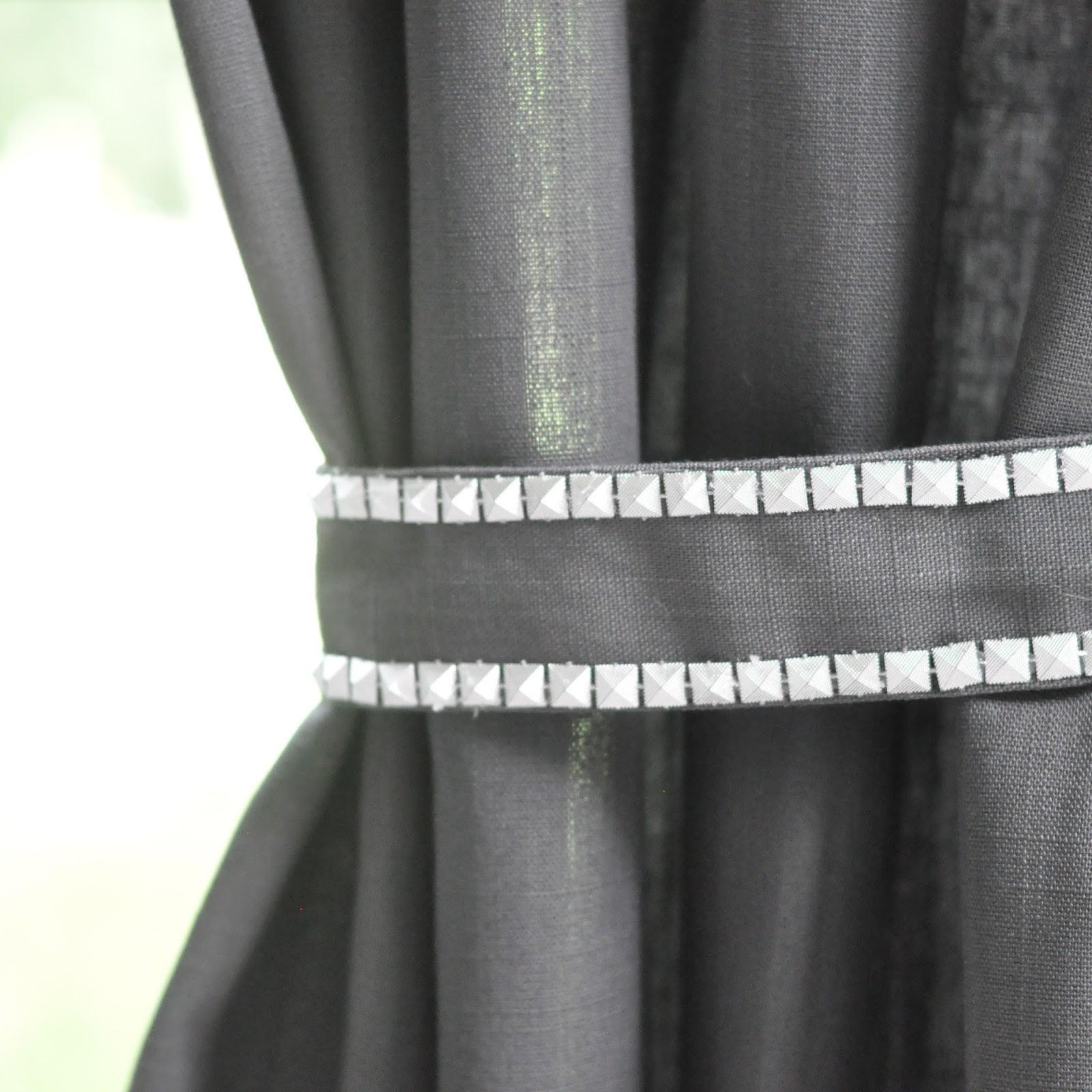 DIY Studded Curtain Tie-Backs