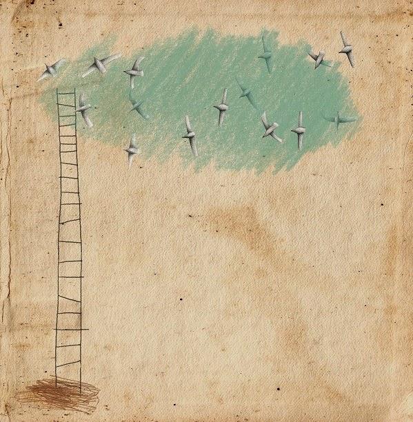 """""""Uma escada muito céu e sonhos e asas e ar (a precisar...)"""" Teresa Martinho Marques"""