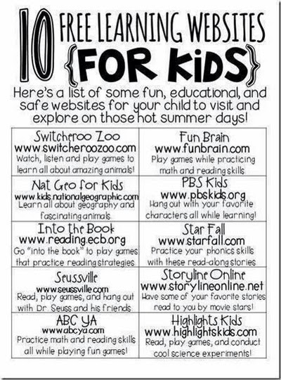 Ten Free Leaning Sites for Kids