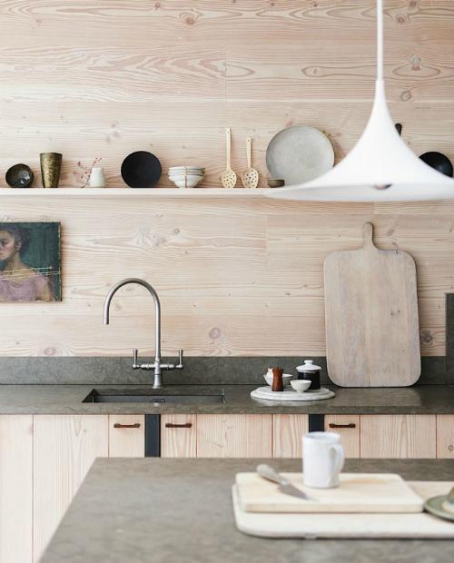 Holz lampe kuche for Betonarbeitsplatte kaufen