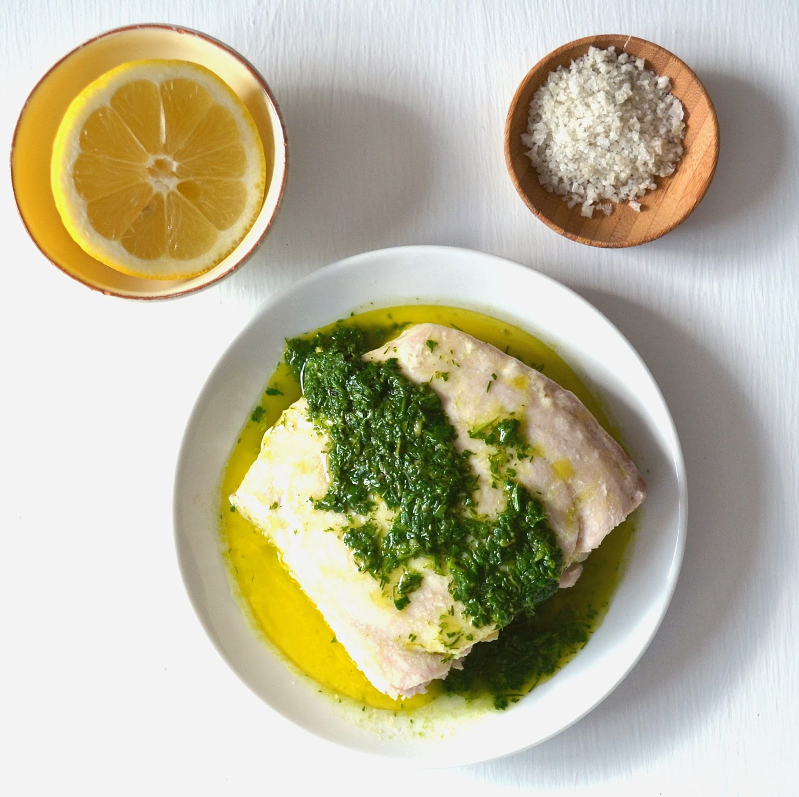 Jilly inspired baked fish with lemon herb sauce for Lemon fish sauce recipe
