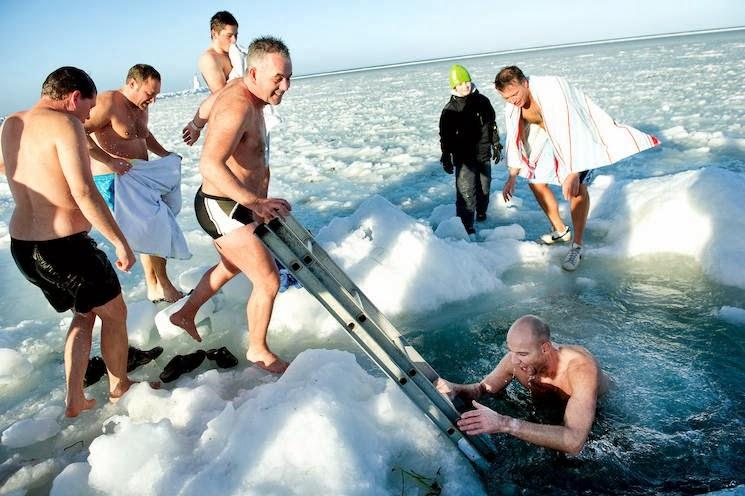 Nytårsbadning ved Søbadet
