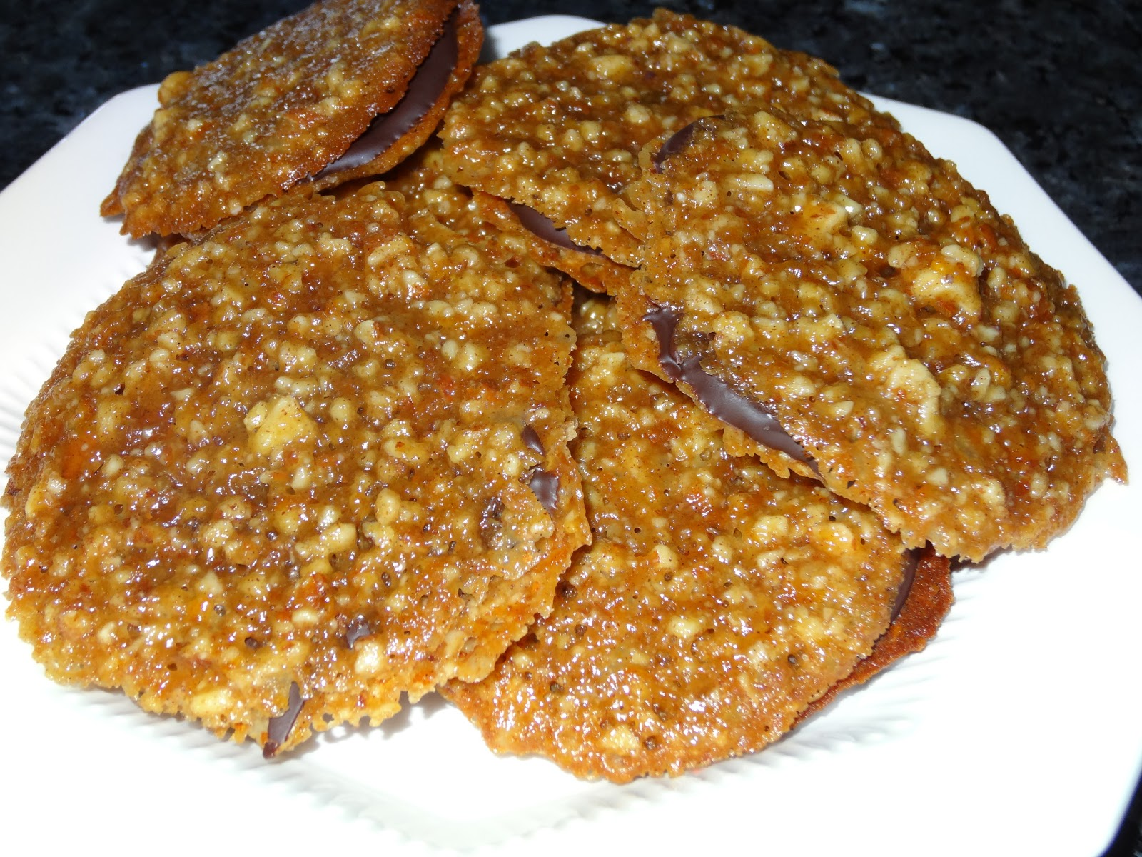 Joni Loves To Cook: Almond Orange Lace Cookies with Dark Chocolate ...