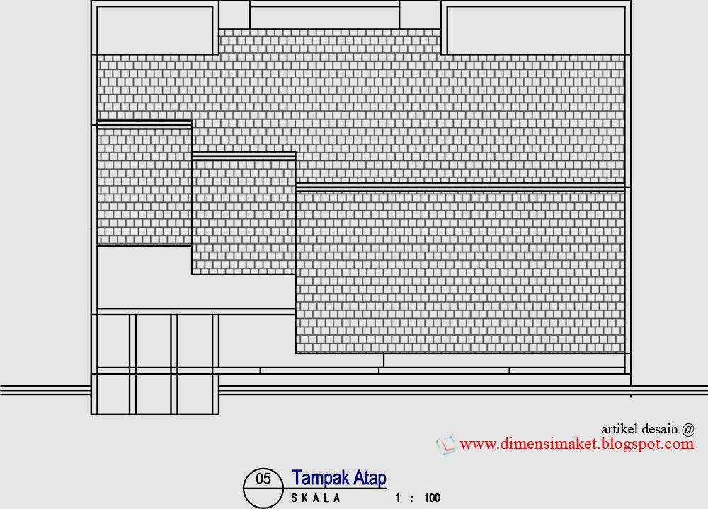 dimensi maket arsitektur desain rumah 003 contoh