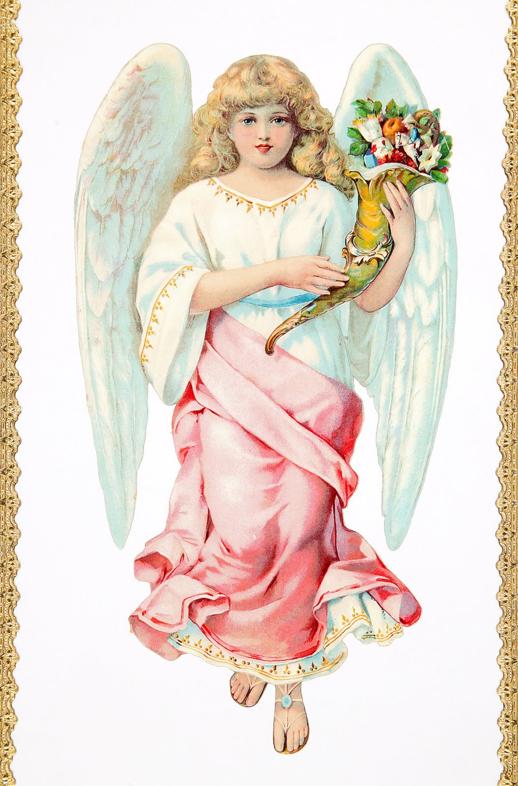 A vintage cottage home christmas angel in pink for Christmas angels