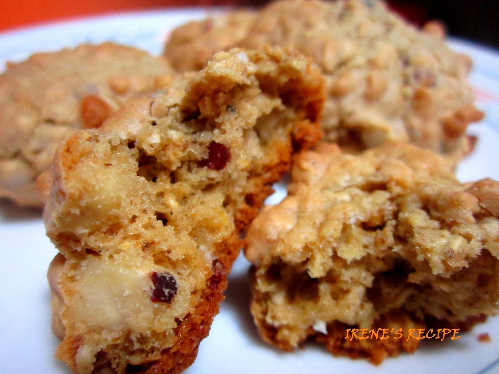 Irene's Recipe: Almond Cranberry White Chocolate Oatmeal ...