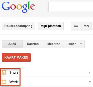 Het google productblog thuis en werklocaties nu makkelijk toegankelijk op google maps - Het nu thuis ...