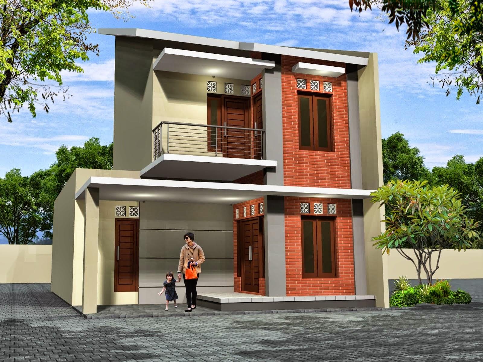 Desain Rumah Minimalis 2 Lantai Pojok Foto Desain Rumah Terbaru 2016