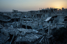 Syria in Middle East – the land of suffering – being reduced to rubble