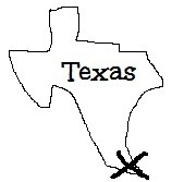 Silhouette of Texas