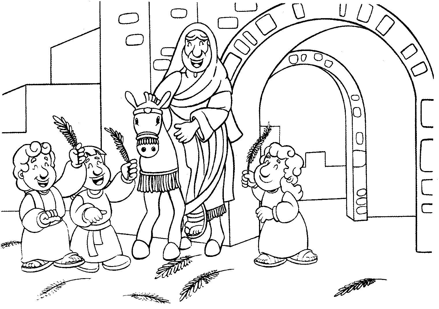 Los niños y la Biblia: Entrada Triunfal de Jesús en Jerusalen ...