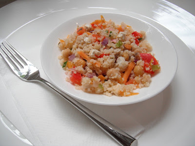 Southern Spoon blog: couscous, chickpea, and vegetable salad