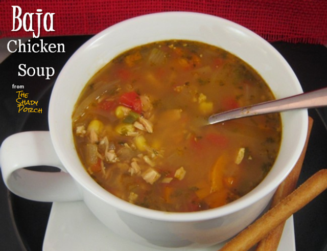 Baja Chicken Soup: Slow Cooker